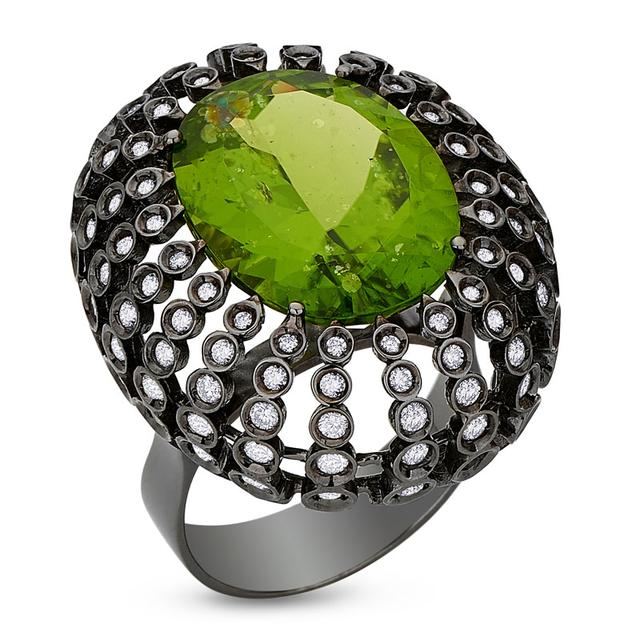 Swoonery-Petit Pois Ring - Peridot