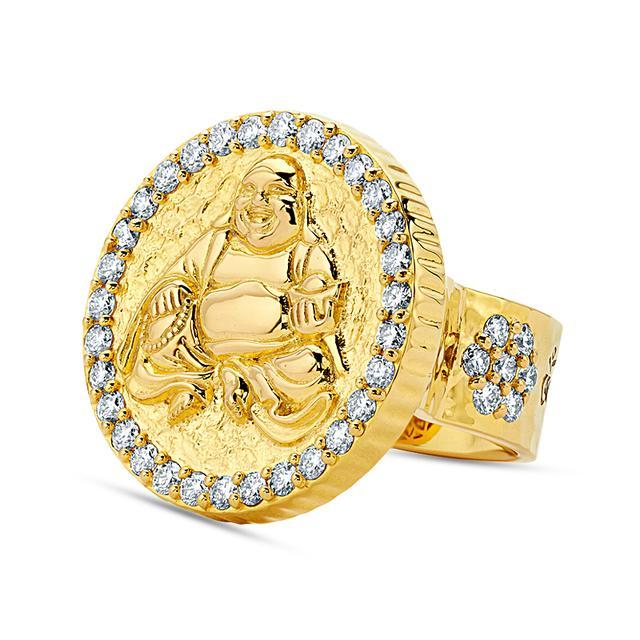 Swoonery-20K Buddha Coin Ring