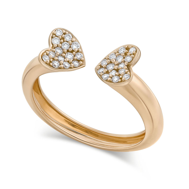 Swoonery-Small Rose Gold Heart Ring
