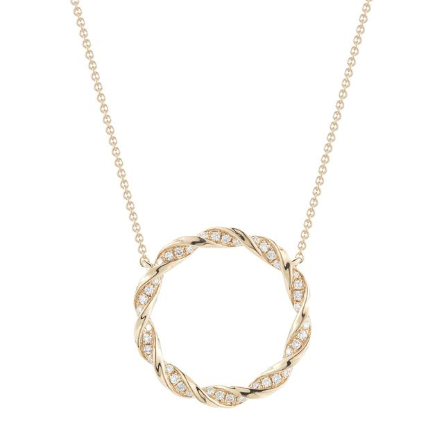 Swoonery- Carly Brooke Diamond Circle Pendant