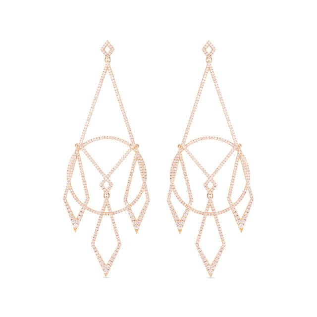 Swoonery-Diamond Chandelier Earrings