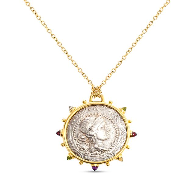 Swoonery-Artemis Ancient Silver Coin Medallion Necklace