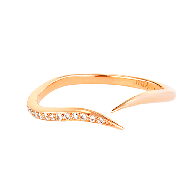 Swoonery-Diamond Serpentine Sleeps Stackable Ring
