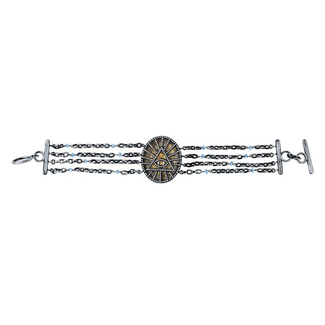 Swoonery-Quintessence Labradorite Fifth Dimension Bracelet