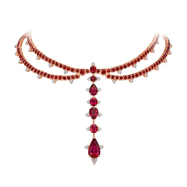 Swoonery-Out of Africa Ruby Choker and Pendant