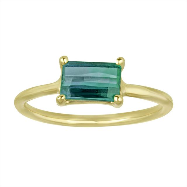 Swoonery-Blue Green Tourmaline Ring