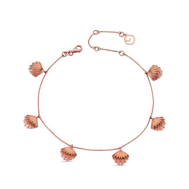 Swoonery-Aqua Light Oyster Anklet