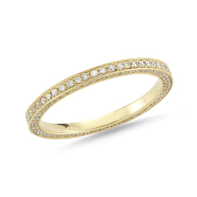 Swoonery-Triple Sided Pave Band
