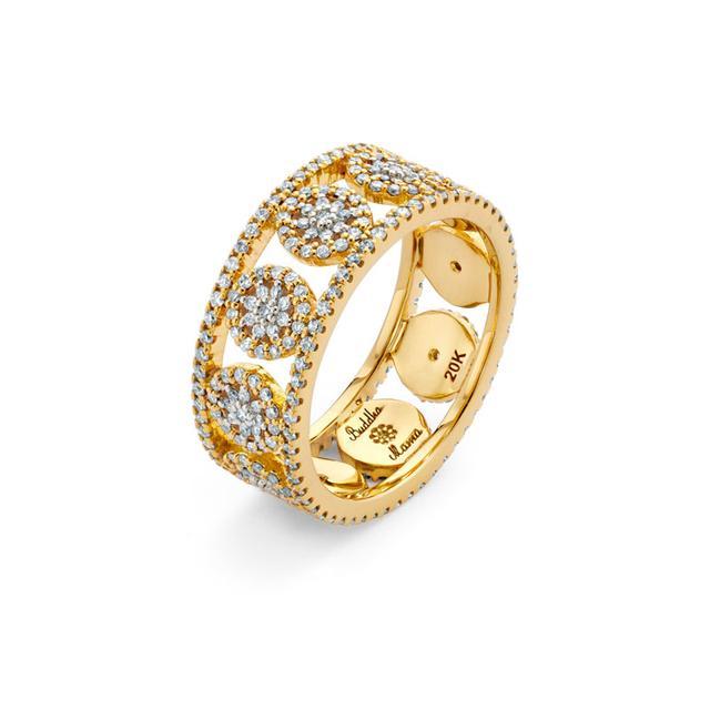 Swoonery-20K Mandala Band Ring