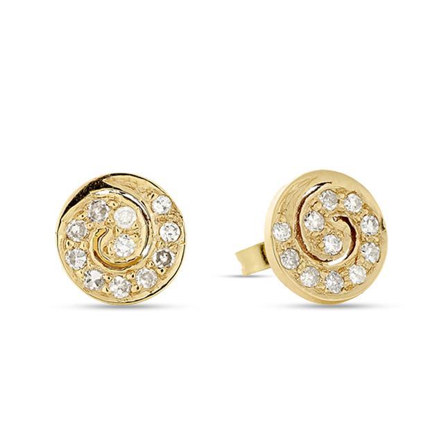 Swoonery-Diamond Spiral Mini Studs