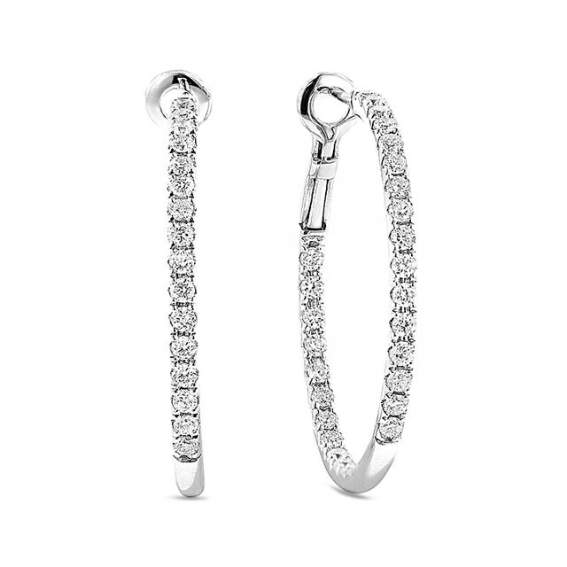 Swoonery-Lever Back Hoop Earrings
