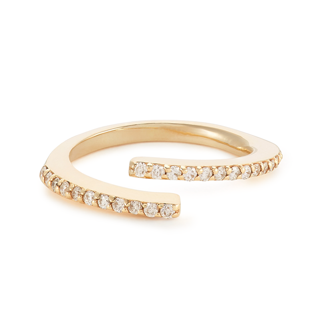 Swoonery-Delicate Open Line Ring