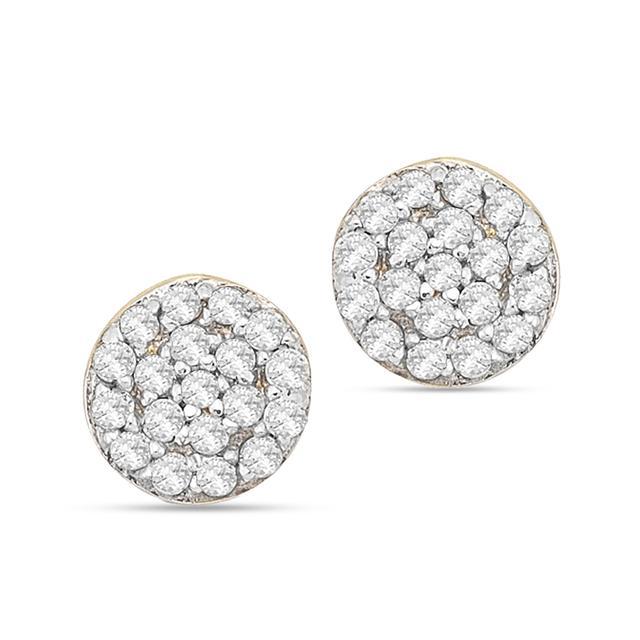 Swoonery-Mini Diamond Disc Stud