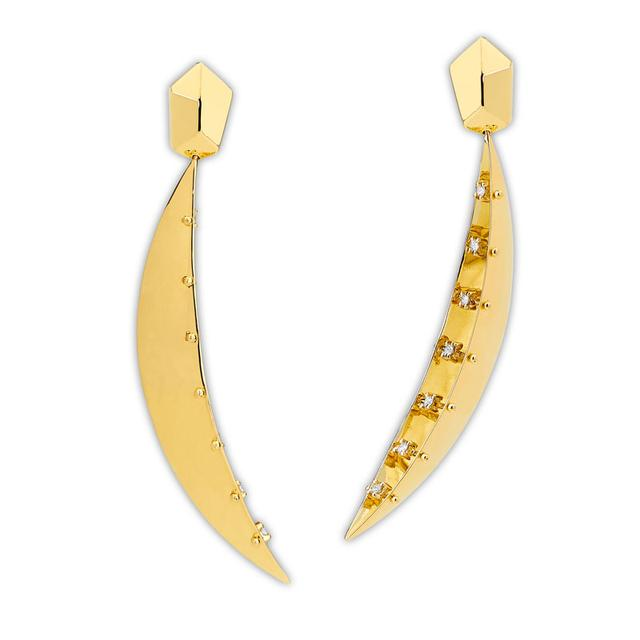 Swoonery-Half Moon earrings