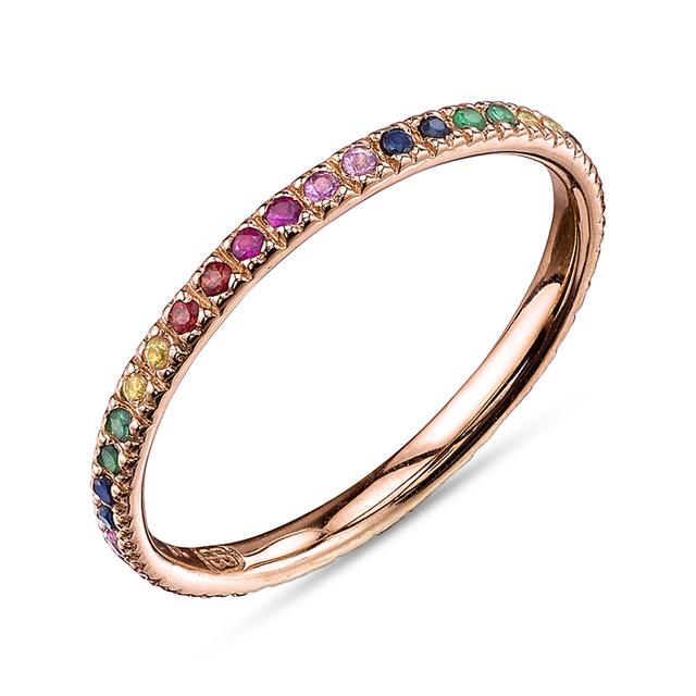 Swoonery-Rainbow Multi Eternity Band