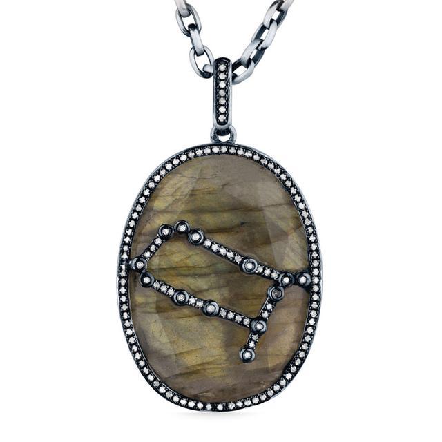 Swoonery-Labradorite Constellation Pendant