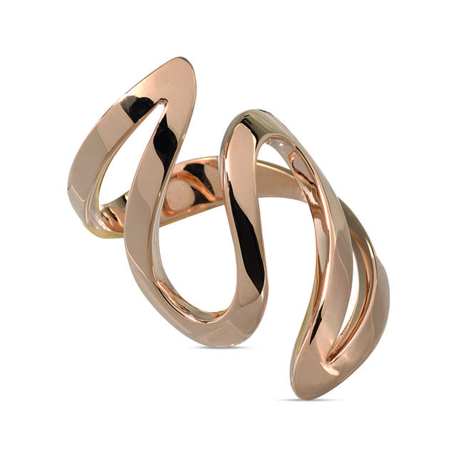 Swoonery- Rose Gold Ivy 3 Ring