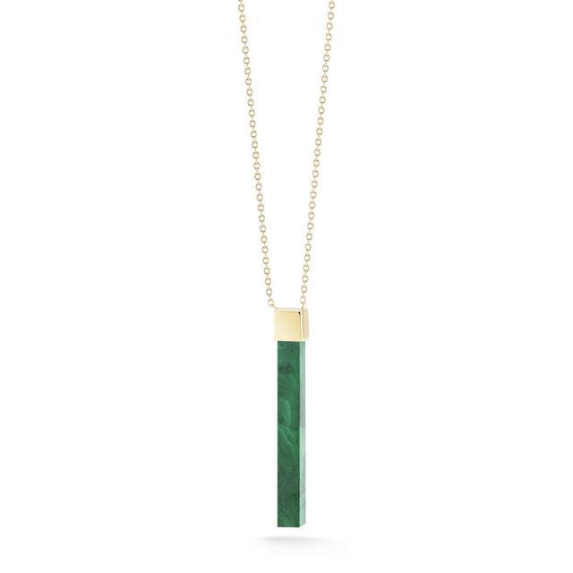 Swoonery-Malachite Bar Necklace