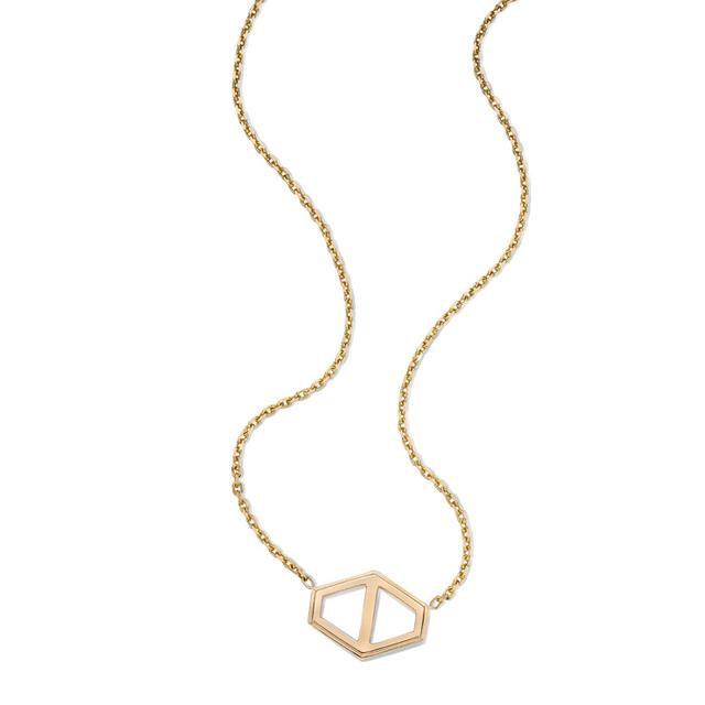 Swoonery-Keynes Large Signature Hexagon Pendant