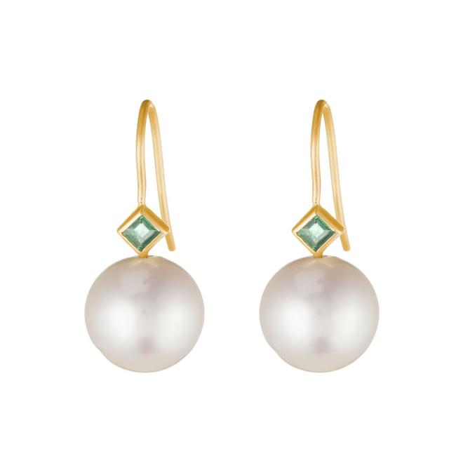 Swoonery-PRINCESS PEARL EARRINGS