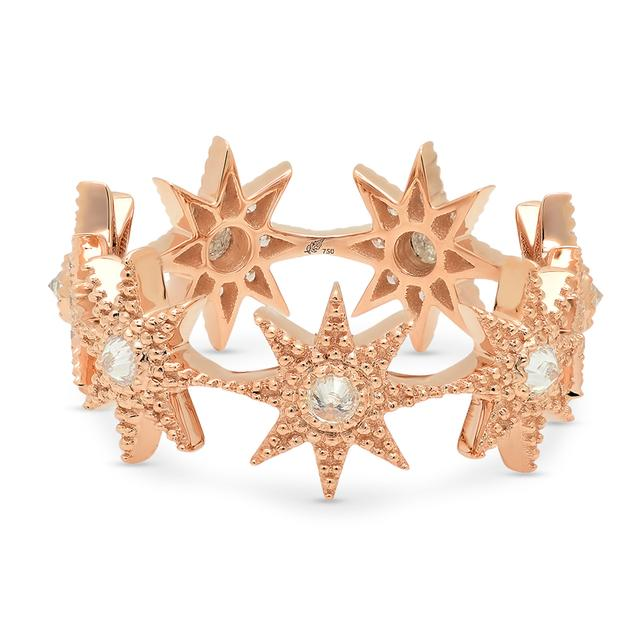 Swoonery-Pink Gold Stars Infinity Ring