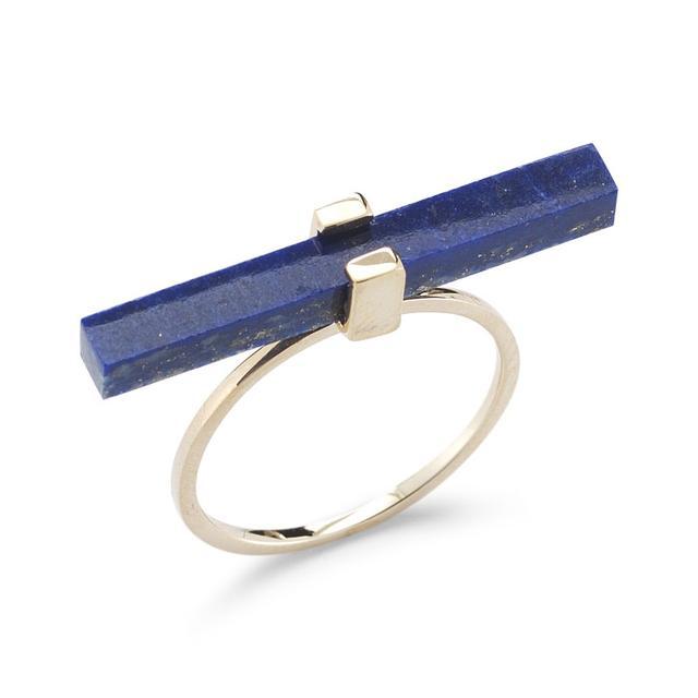 Swoonery-Lapis Cross Bar Ring