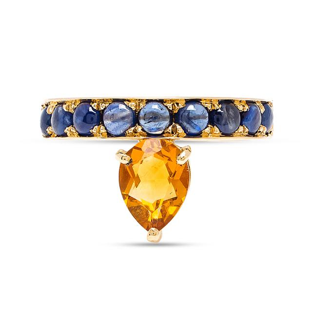 Swoonery-Citrine Theodora Tear Ring