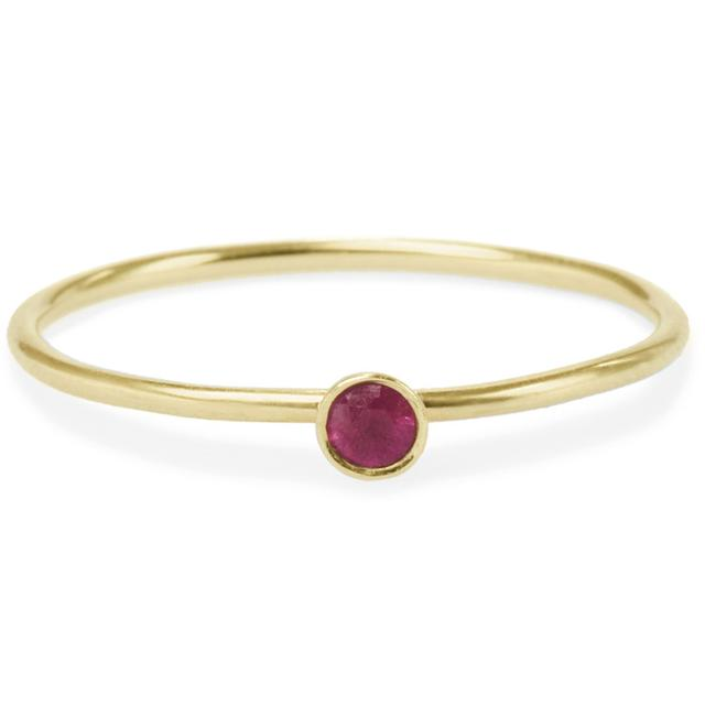 Swoonery-RUBY FRIENDSHIP RING