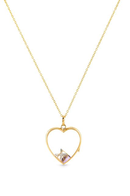 Swoonery-Large Yellow Gold Heart Loquet