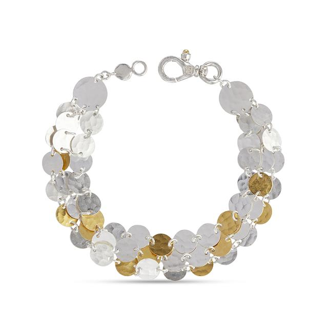 Swoonery-Lush Triple Strand Sterling Silver Bracelet
