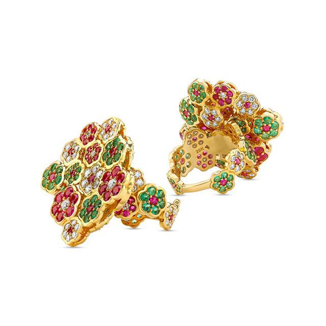Swoonery-20K Flower Cluster Ring