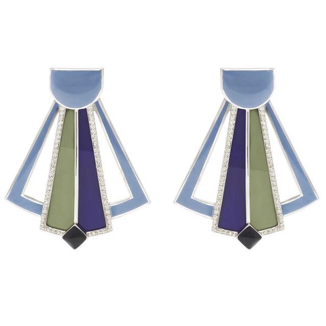 Swoonery-Byzantia earrings
