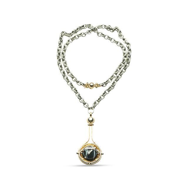 Swoonery-Onyx Pluton Pendant Necklace