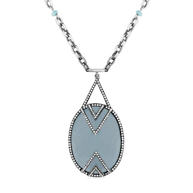 Swoonery-Aquamarine Air Necklace