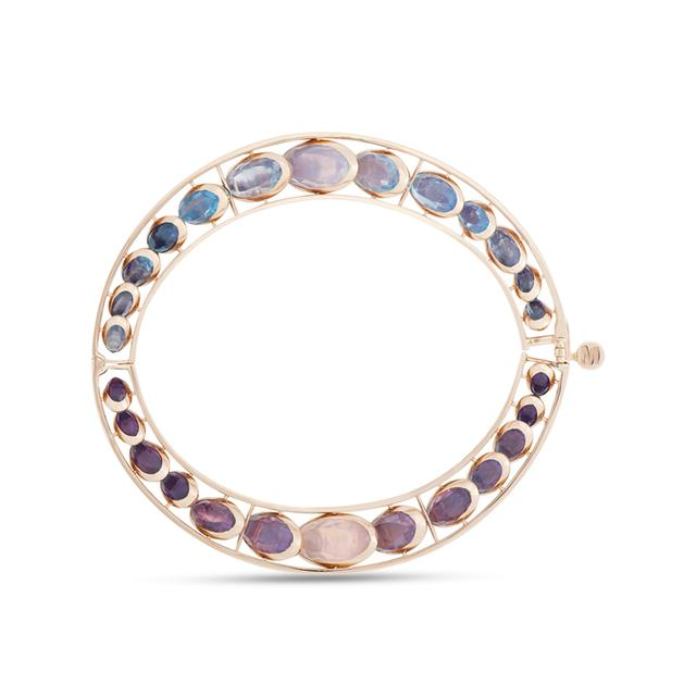 Swoonery-Front Dancing Stone Bracelet