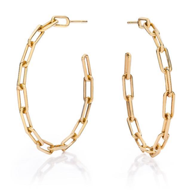 Swoonery-Saxon Chain Link Hoop Earring