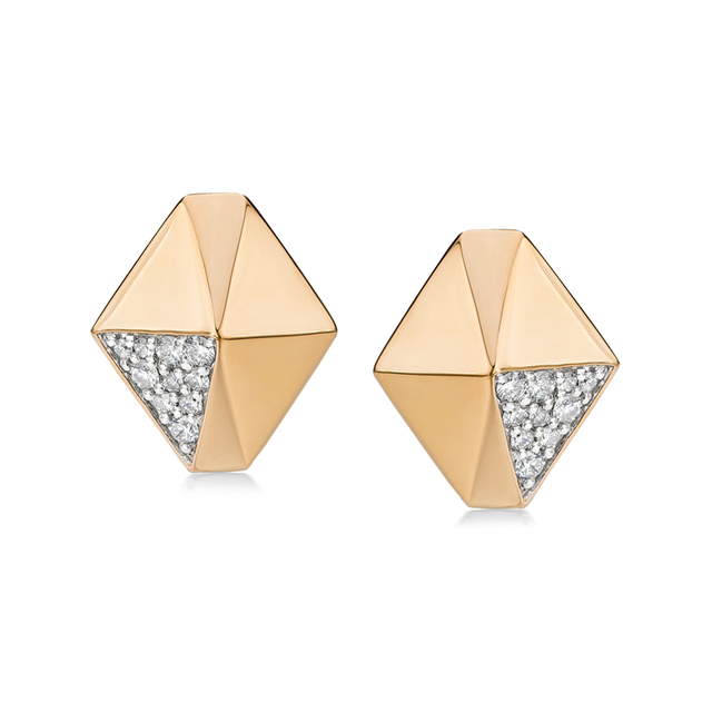 Swoonery-Sydney Diamond Origami Stud Earring