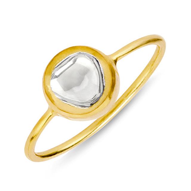 Swoonery-Kundan Vintage Diamond Round Ring