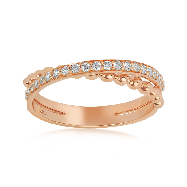 Swoonery-Thin Rose Gold Bubbles Ring