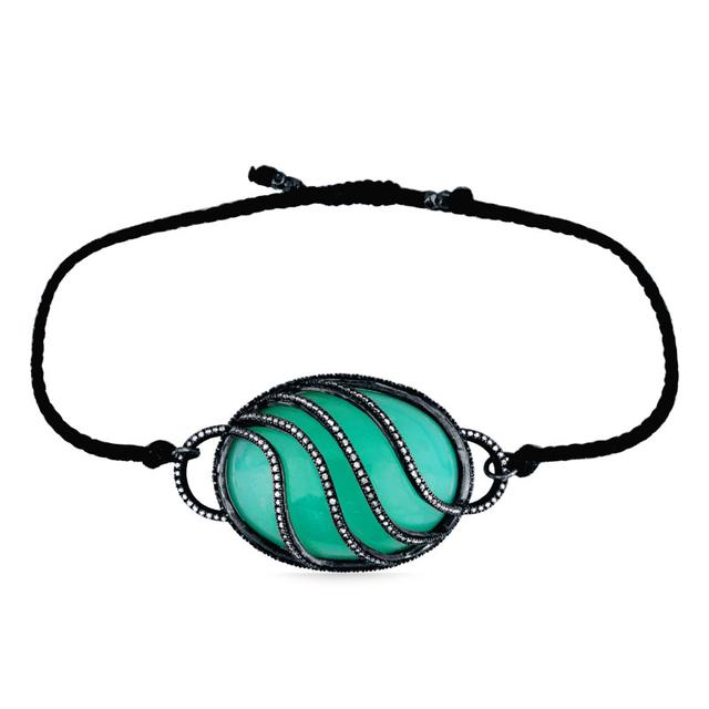 Swoonery-Quintessence Chrysophrase Water Bracelet
