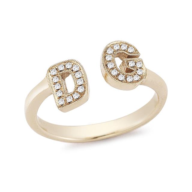 Swoonery-Custom Initial Ring