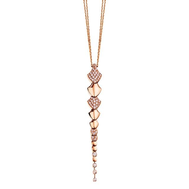 Swoonery-Rose Gold Python Pendant