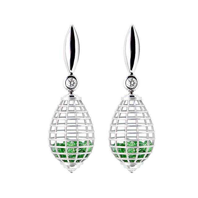 Swoonery-Shaker Teardrop Earrings