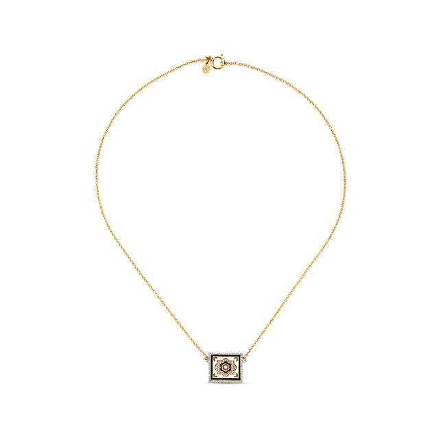 Swoonery-20K Dainty Tile Necklace