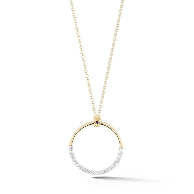 Swoonery-SMALL HALF MOON PENDANT WITH DIAMONDS