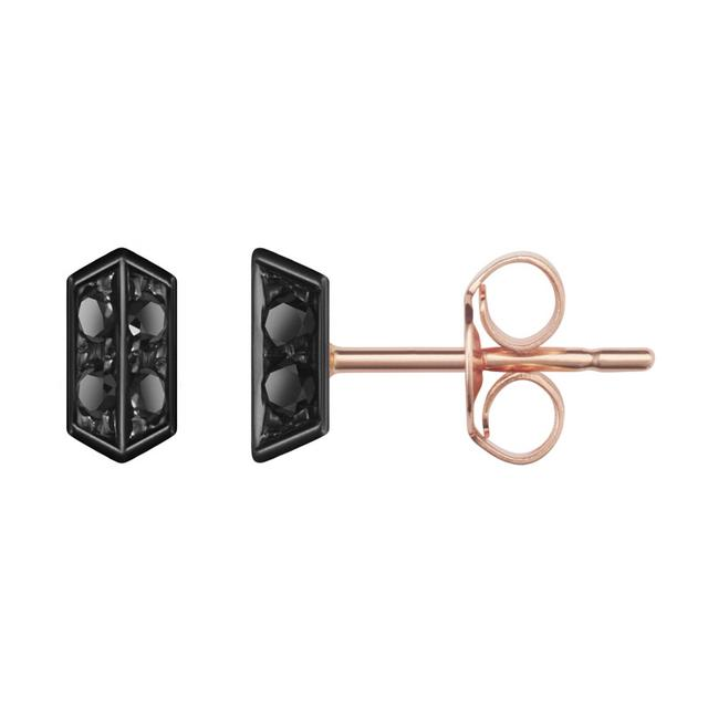 Swoonery-Black Diamond Sophia Stud Earrings