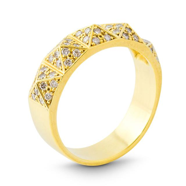 Swoonery-BLACKENED GOLD RING