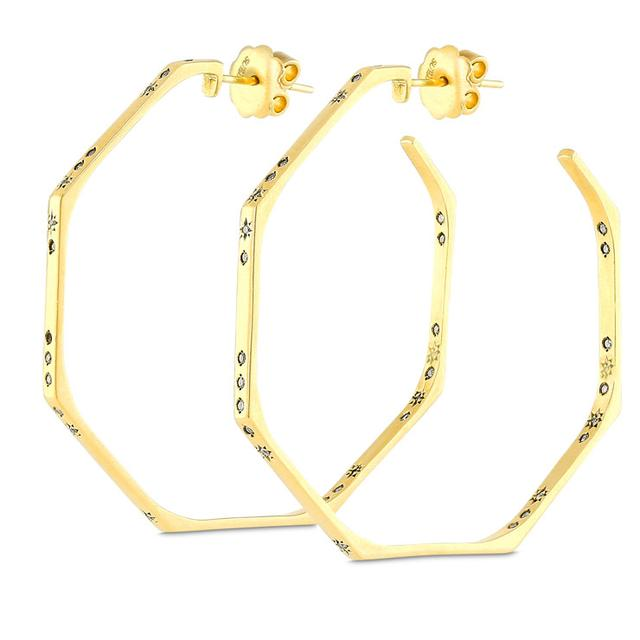 Swoonery-CONSTELLATION HOOP EARRINGS