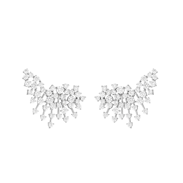 Swoonery-White Gold Luminus Earrings