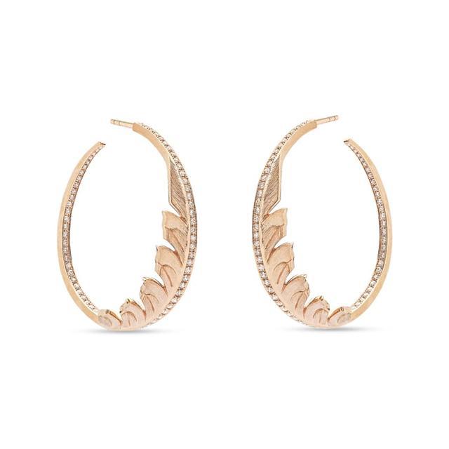 Swoonery-Magnipheasant Pavé Hoop Earrings